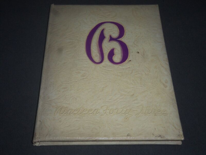 1943 THE PURPLE BOGOTA HIGH SCHOOL YEARBOOK - NEW JERSEY - PHOTOS - YB 959