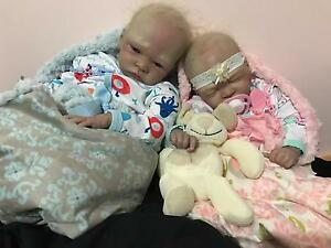 "Both reborn Twins Baby Girl and Boy reborn baby so real 22"" Melbourne CBD Melbourne City Preview"