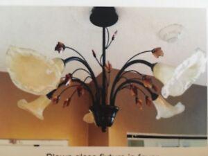 Murano blown glass light fixture
