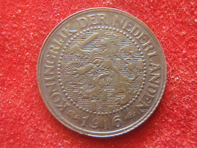 NETHERLANDS - 1916 - 21/2 CENT  - ALMOST UNCIRCULATED - VERY NICE -102 YEARS OLD