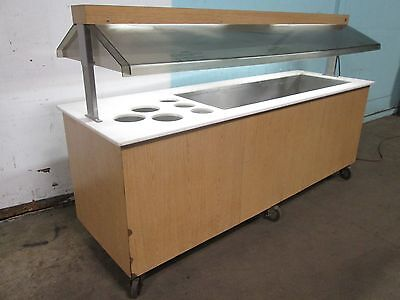 Duke H.d. Commercial Lighted Refrigerated 92w Cold Food Buffet Salad Bar