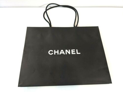 """Authentic Chanel Black Paper Shopping Gift Bag 17"""" x 13"""" x 6.25"""""""