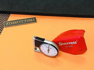 Starrett No. 1010-e Dial Indicator Pocket Gage With Red Plastic Pouch. Usa Made.