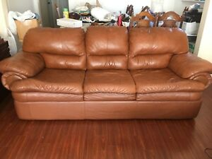 3 piece leather couch