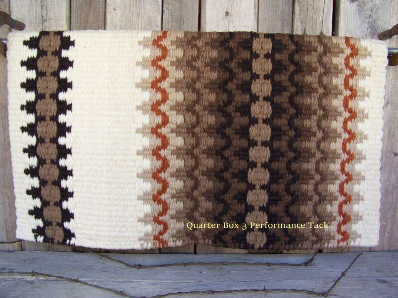 Corona Show Blanket - 38x34 (Cream Base/Sand & Dark Earth Tones) by Mayatex
