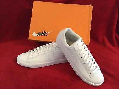 Genuine Nike Blazer Low Leather trainers in Triple White, Brand New Boxed...