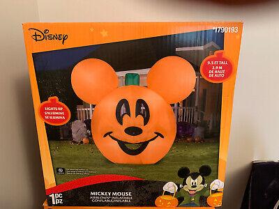 NEW Gemmy Disney 9.5ft Halloween Mickey Mouse Jack O Lantern Pumpkin Inflatable!