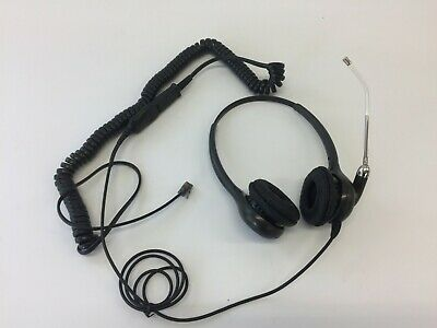 Plantronics HW261,EMEA,Binaural Voice Tube Headset P/N36830-31+U10P Curly Cable Headset Voice Tube