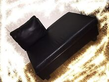 98% NEW BLACK REAL LEATHER CHASE. 2 seater size Chatswood Willoughby Area Preview