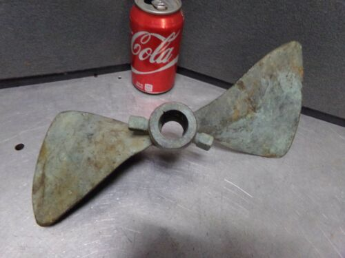 "12"" Antique Bronze / Brass 2 Blade Boat Ship Propeller Very Early / Old"