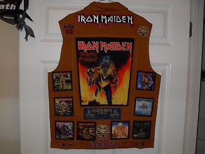 IRON MAIDEN Tribute Vest--KAHKI--XL     ************* NEW LISTING***************