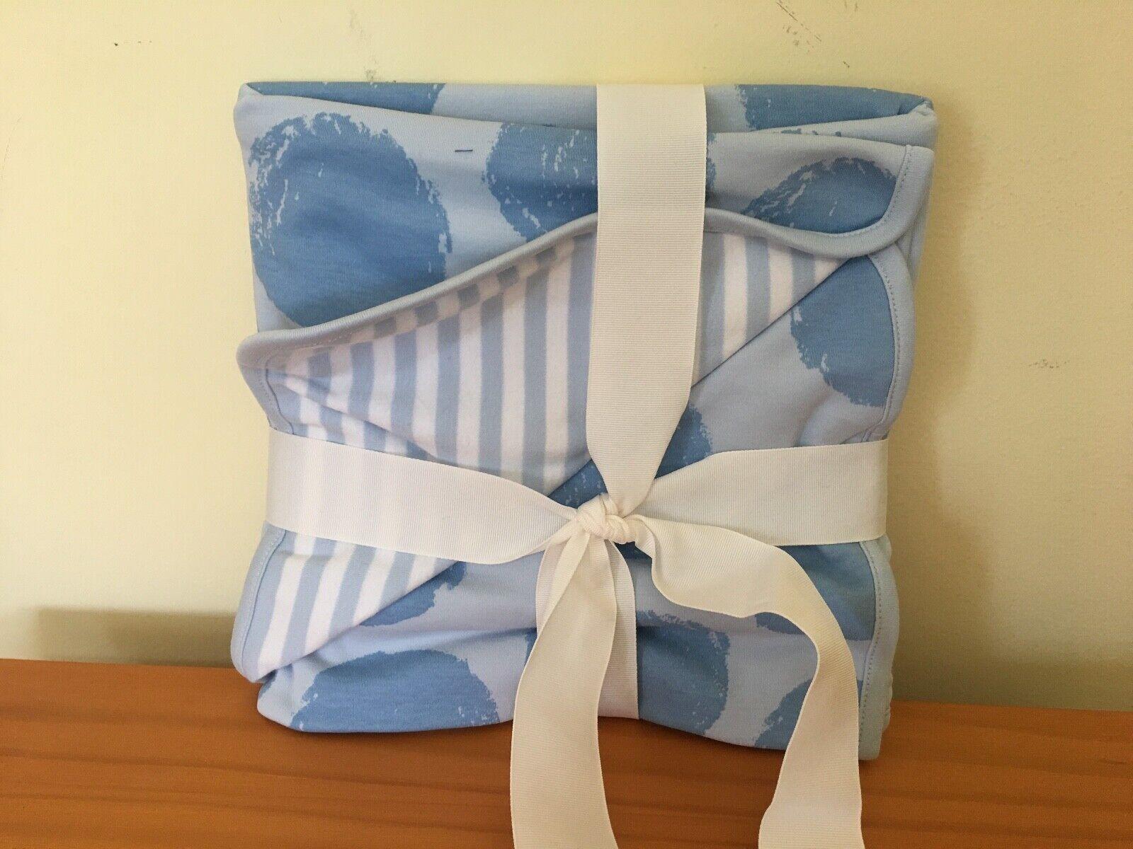 "New Gymboree Blue Dot Cotton Receiving Blanket 30x30"""