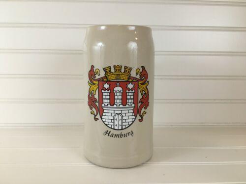 Vintage German Rastal 1 Liter Hamburg Germany Stoneware Beer Stein Mug