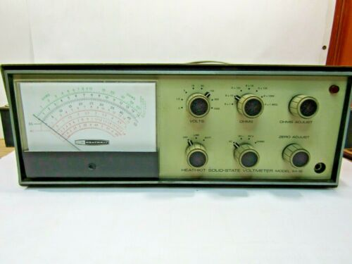 Heathkit IM-16 Solid State Voltmeter w/probe  Tested!