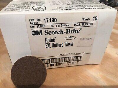 Silicon Carbide 3//8 Arbor Scotch-Brite EXL Unitized Wheel 6S Fine Grit 18100 rpm Pack of 1 3 Diameter