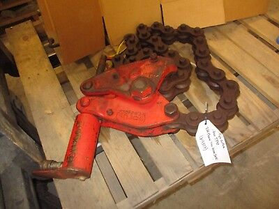 Wheeler Hyd 5590 Pipe Cutter 81930g 8ft Chain Used