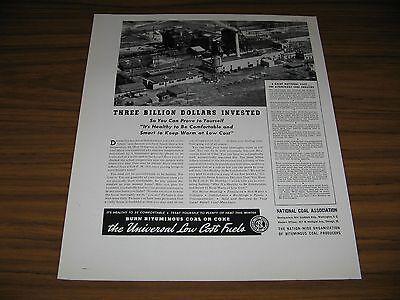 1940 Print Ad National Coal Association Bituminous Coal Producers