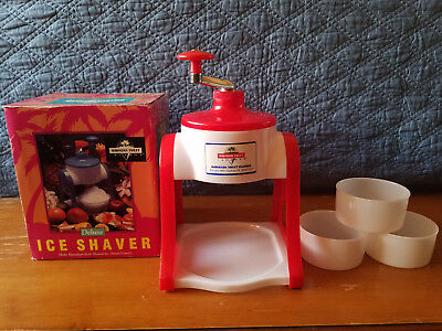 Hawaiian Sweet Island Deluxe Ice Shaver Kit Complete Soft Fluffy Snow Cone Maker