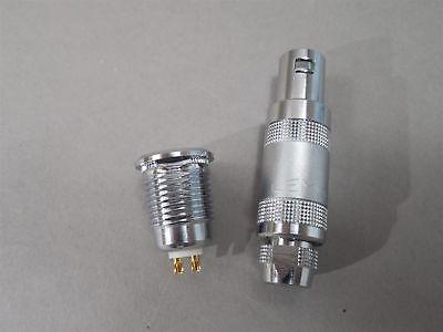 Lemo Connector Mated Pair Era.1s.302 Receptacle Ffa.1s.302ctac62 Plug 2-wire