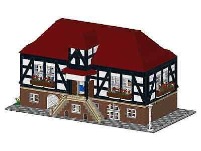 PDF Bauanleitung MOC für ein Modell aus Lego Steinen Restaurant American Diner Baukästen & Konstruktion