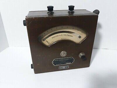 Weston Voltmeter Model 155 Ac Electrical Instrument Antique