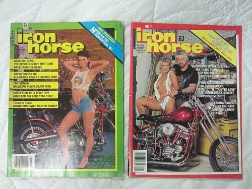 Iron Horse Motorcycle Biker Magazines March 1986 & January 1987