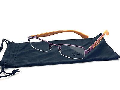 RAY-BAN RB 6264 2797 PURPLE/ORANGE SEMI RIMLESS FRAMES EYEGLASSES 49MM (Ray Ban Rimless Prescription Glasses)