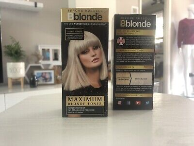 2 X Jerome Russell Bblonde Non Permanent Maximum Colour TONER Atomic Blonde 75ml