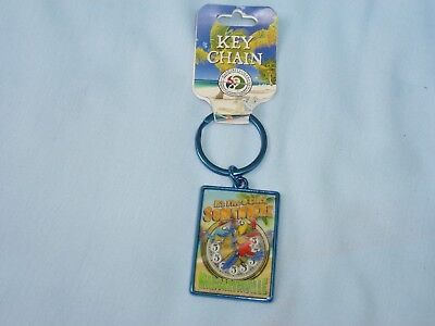 It's Five O'Clock Somewhere MARGARITAVILLE (1) KEYCHAIN/KEYRING  by Rico NWT bl