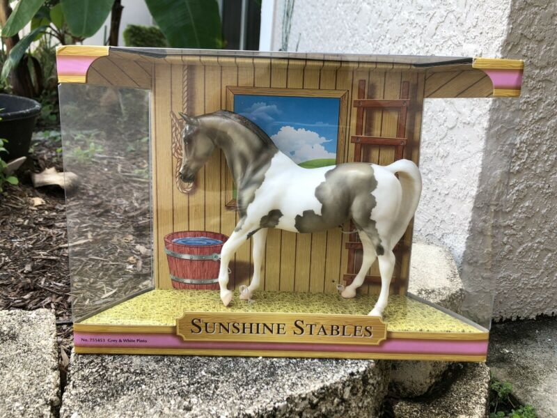 Classic Breyer Horse #755453 Grey White Pinto Johar Arabian Sunshine Stables SR