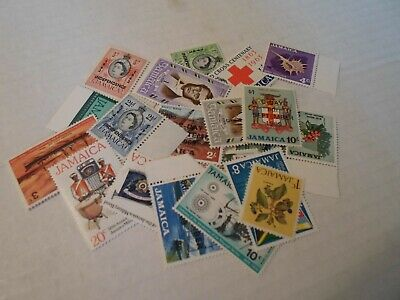 Collection lot 25 different MNH stamps of Jamaica