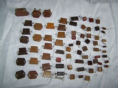 70pc Lot Mixed Vintage Mica Capacitors Cornell-dubilier Usa Tube Amp