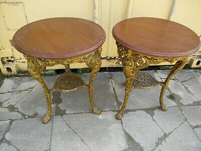Pair Of Antique Victorian Cast Iron Pub Tables By Richard Cross Blackburn
