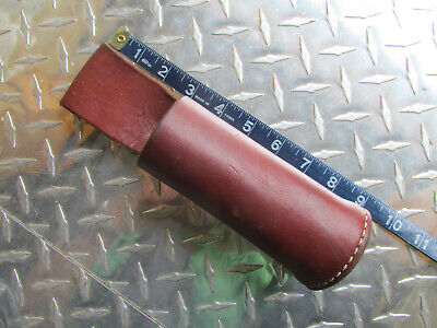 Triple K 401 Leather Baton Holster Made In Usa Brown Round Billy Club Police