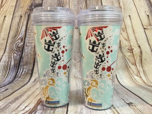 2 Royal Caribbean Cruise Line Coca-Cola Cold Drink Travel Tumblers Souvenir 2015