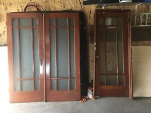 Douglas fir French doors
