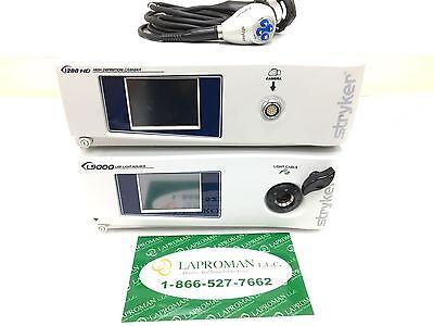 Stryker 1288 Hd Complete W L9000 Led Light Source Endoscopy
