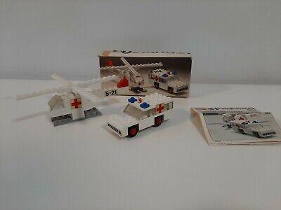 Vintage 1970's Lego Legoland Ambulance & Helicopter 653 - 100% Complete