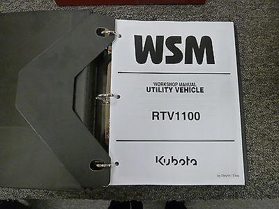 Kubota Model Rtv1100 Utility Vehicle Shop Service Repair Manual Book