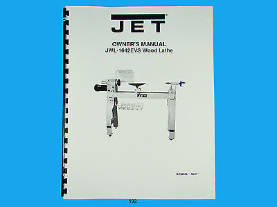 Jet  Jwl-1642evs Wood Lathe Owners Manual 192