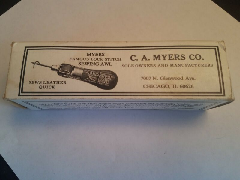 Vintage Myers Awl in box patent number 2060349