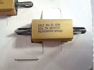 Dale Rh-10 10watt 40 Ohm 1 Power Resistors