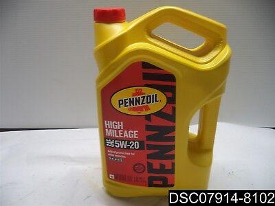 Qty= 6.25 Gallons: Pennzoil 550045203 5 Qt 5W-20 High Mileage Motor Oil