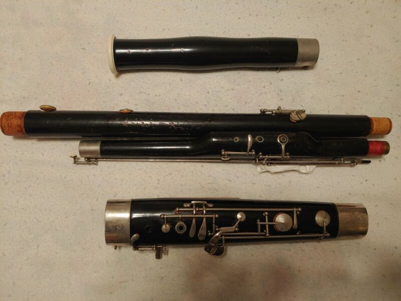 "Vintage Fox ""Model II"" Wood Bassoon, Free shipping (US only)"