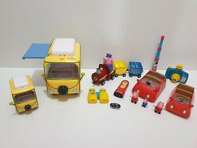 Peppa Pig Bundle big Camper Van & small campervan Train & Car