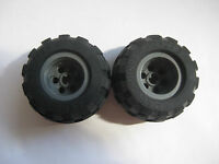 LEGOS Set of 2 NEW Light Gray 20 X 30 BALLOON Wheels and Black Balloon Tires