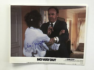 SEAN YOUNG  SIGNED NO WAY OUT LOBBY CARD 11X14 PHOTO AUTO AUTOGRAPH JSA CERT](No Way Out Sign)