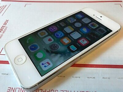 Apple iPhone 5 - 16GB - White & Silver (AT&T) A1428 (GSM) Free Shipping - Works