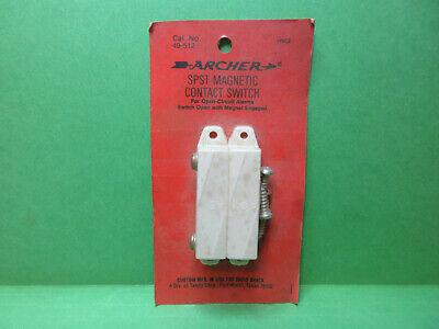 1 Archer Spst Alarm Security Magnetic Contact Door Window Switch Nos 49-512