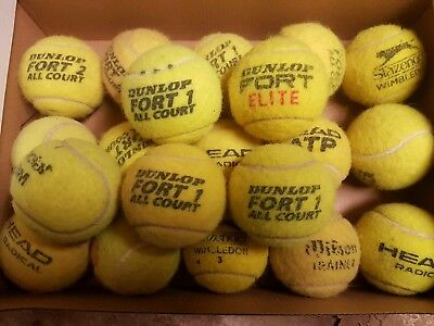 20 Used Tennis Balls, Various brands. All Good to Very good condition.